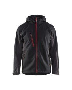 Schwarz Rot Jacke